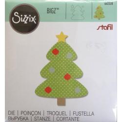 Sizzix Bigz Die - Albero di Natale con addobbi