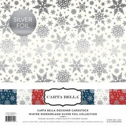 "Carta Bella Winter Wonderland 12""x12"" Silver Foil Collection"