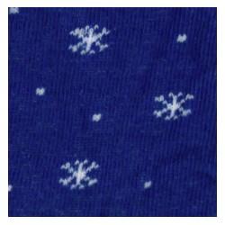 Tubolare Fiocchi di Neve blu/panna 100cmx8cm