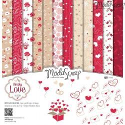 Paper pack Simply love 30x30cm