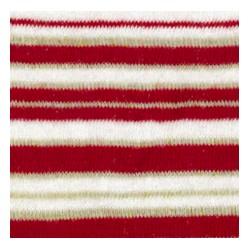 Tubolare righe glitter rosso/panna/oro 100cmx8cm