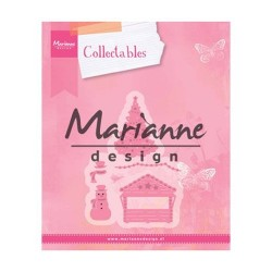 Marianne Design Collectables Village decoration set 5 col1440