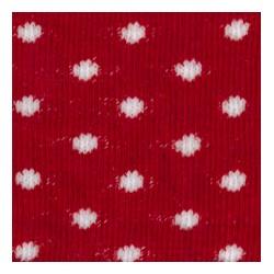 Tubolare pois rosso/panna 100cmx8cm