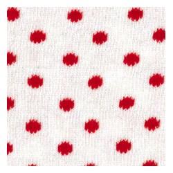Tubolare pois panna/rosso 100cmx8cm