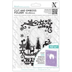 XCUT Cut & Emboss Folder -  Winter Wishes