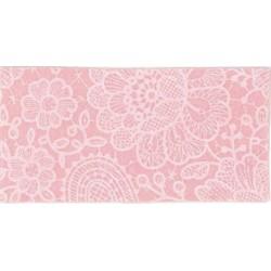 Pannolenci stampato Pizzo Rosa pastello/bianco