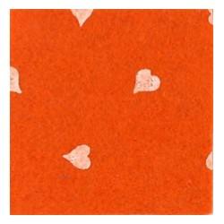 Pannolenci cuori arancione/bianco
