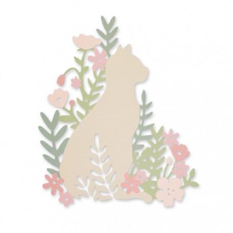 Sizzix Thinlits Die - Meadow Cat