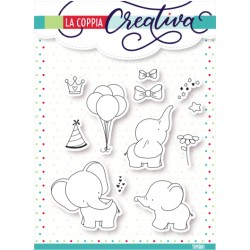 Set timbri la coppia creativa Elefanti