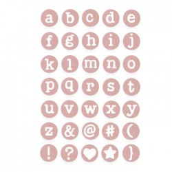 Sizzix Thinlits Die Set 35PK - Dainty Lowercase
