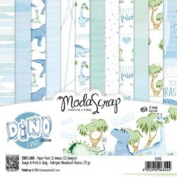 Paper Pack Modascrap Dino Land 15x15cm