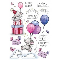 Set  Timbri Clear Stamp Wild Rose Studio Bella's party 2
