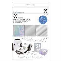 Xcut Xtras' A5 Adhesive Foil Sheets Silver - 20 Fogli adesivi Foil Argento A5