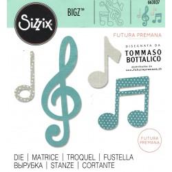 """Sizzix Bigz Die  """"Futura Premana"""" - Musica"""