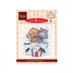 Timbro Marianne Design clear stamps Cat and Dog candlelight