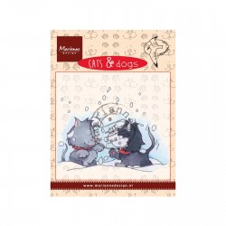 Timbro Marianne Design clear stamps Cat and Dog snow fight