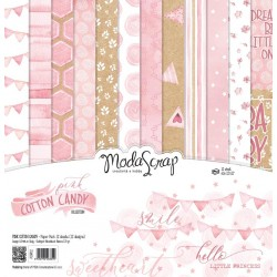 Paper pack Modascrap Pink Cotton Candy 15x15cm