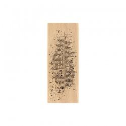 Timbro di legno Florileges TEXTE MOUCHETÉ