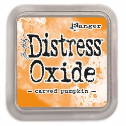 Ranger Tim Holtz distress oxide carved pumpkin