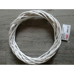 Ghirlanda in vimini verniciato bianco cm25