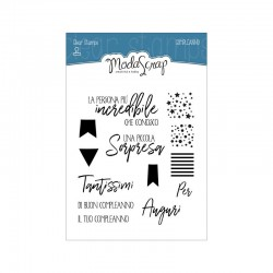 Clear Stamps Modascrap Sentiments Compleanno