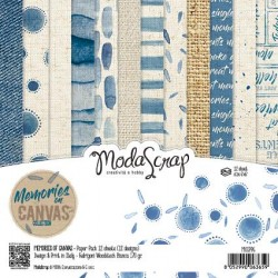 Paper pack Modascrap Memories on Canvas 15x15cm