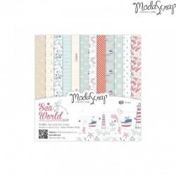 Paper pack Modascrap Sea world 15x15cm