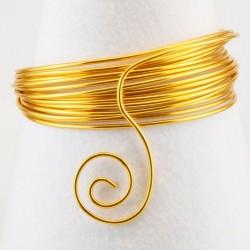 Filo di Alluminio 1,5mm x5mt  Oro - Aluminium Wire Gold