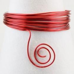 Filo di Alluminio 1,5mm x5mt Rosso - Aluminium Wire Red