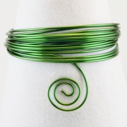 Filo di Alluminio 1,5mm x5mt Verde scuro- Aluminium Wire Dark Green