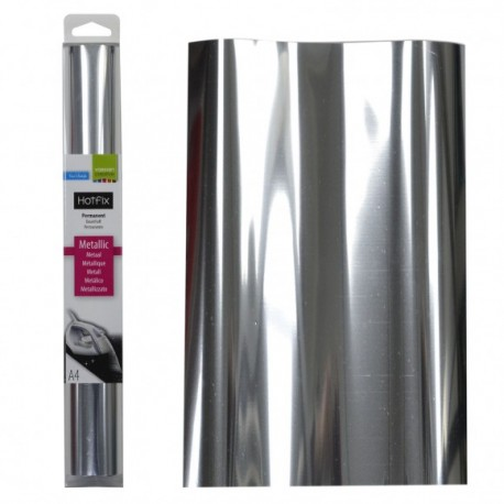 Tessuto termoadesivo - Hotfix A4 metallic silver