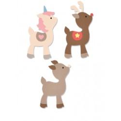 "Sizzix Bigz L Die  ""Futura Premana"" - Cerbiatto/renna/unicorno"