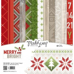 Paper pack Modascrap MERRY AND BRIGHT 30x30cm