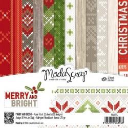 Paper pack Modascrap MERRY AND BRIGHT 15x15cm