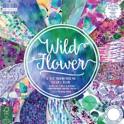 "First edition Paper pad WILD FOWER 12""x12"""