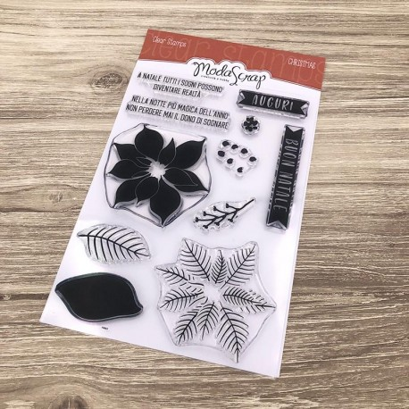 Clear Stamps Modascrap CHRISTMAS FLOWER