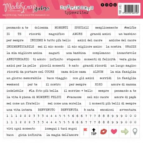 Stickers Modascrap SENTIMENTS TYPEWRITER