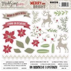 Stickers Modascrap MERRY AND BRIGHT