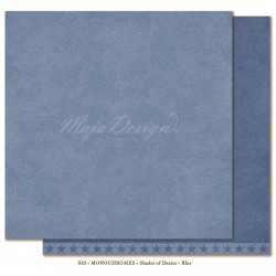 "Carta Maja Design 12""x12"" Monochromes - Shades of Denim - Blue"