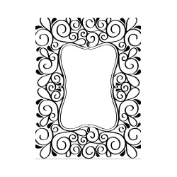 Embossing Template Darice scroll