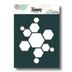 Stencil Tommy Design A6 - Esagoni