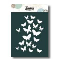 Stencil Tommy Design A6 - Texture farfalle