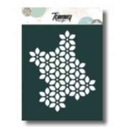Stencil Tommy Design A6 - Trama fiori