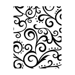 Embossing Template Darice scroll background