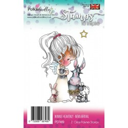Timbri Polkadoodles Winnie Heavenly New Arrival Clear Stamps
