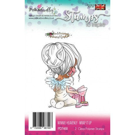 Timbri Polkadoodles Winnie Heavenly Wrap it Up Clear Stamps