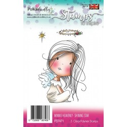 Timbri Polkadoodles Winnie Heavenly Shining Star Clear Stamps