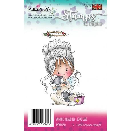 Timbri Polkadoodles Winnie Heavenly Love Ewe Clear Stamps