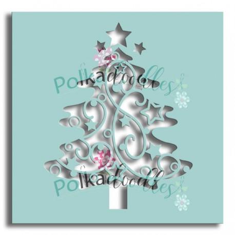 """Stencil Polkadoodles Decorative Tree 6x6"""""""