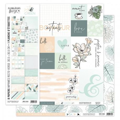 Kit Carte Florileges Design SOFT & GREENS
